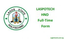 Laspotech HND Full-Time Form now Available – 2017/2018