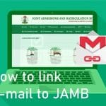 link email to jamb profile